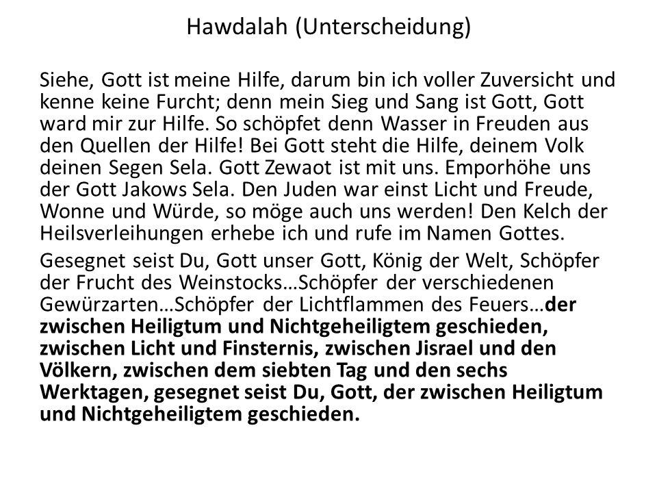 Hawdalah (Unterscheidung)