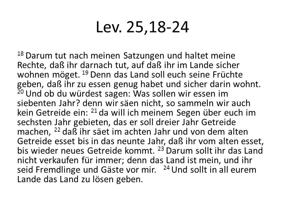 Lev. 25,18-24