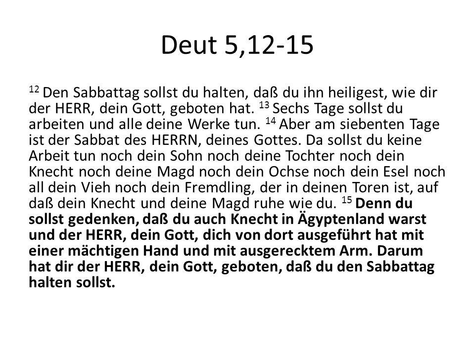 Deut 5,12-15