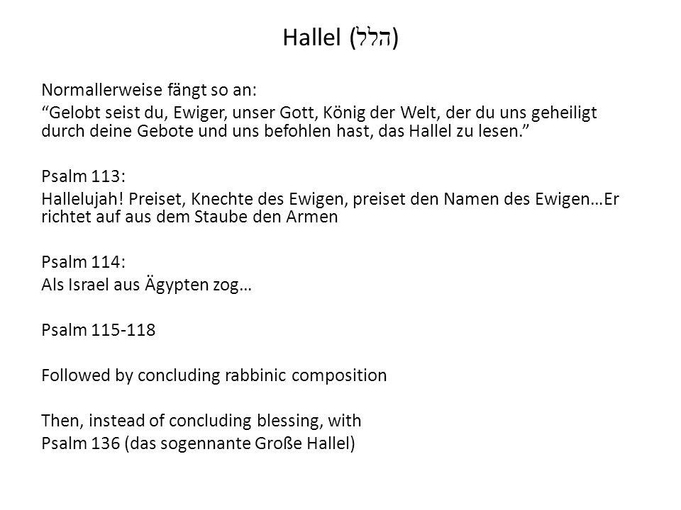 Hallel (הלל)
