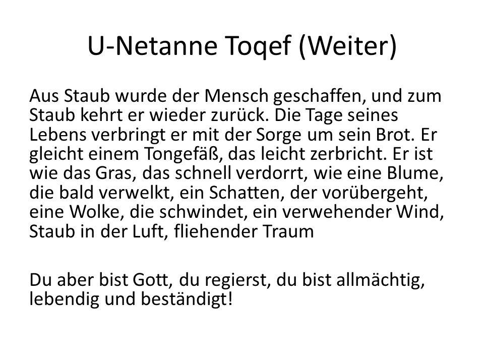 U-Netanne Toqef (Weiter)