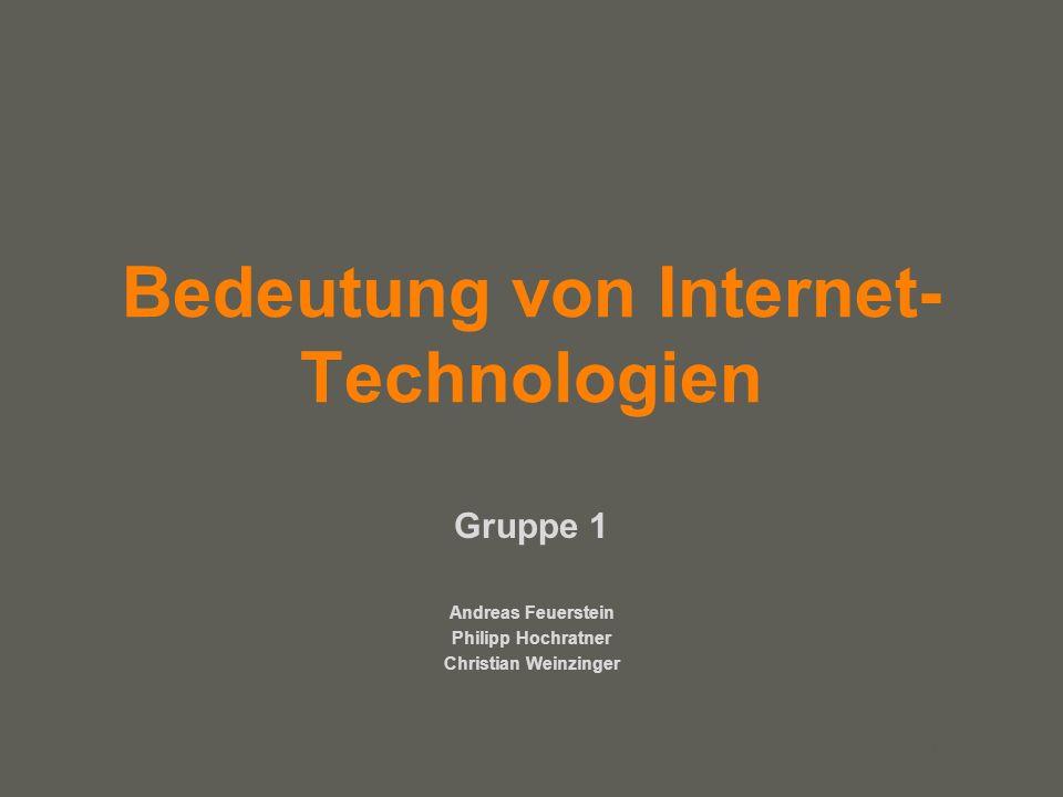 Bedeutung von Internet-Technologien