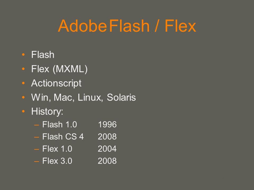 Adobe Flash / Flex Flash Flex (MXML) Actionscript