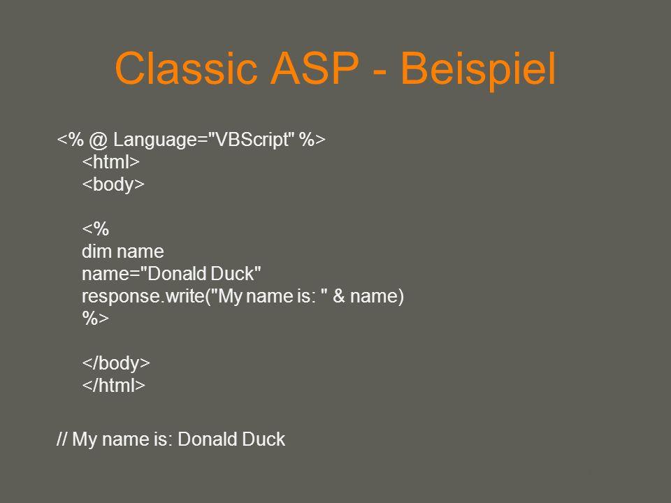 Classic ASP - Beispiel