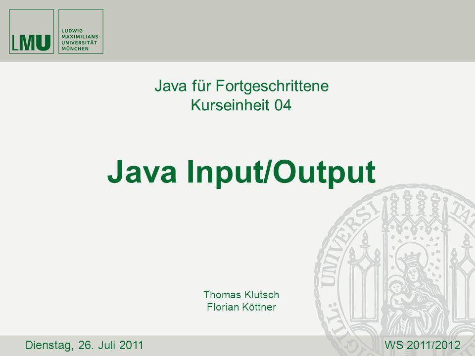 Java für Fortgeschrittene