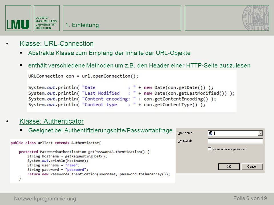 Klasse: URL-Connection