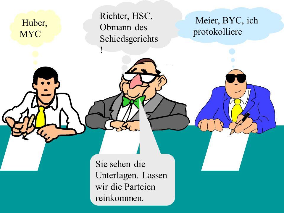 Richter, HSC, Obmann des Schiedsgerichts!