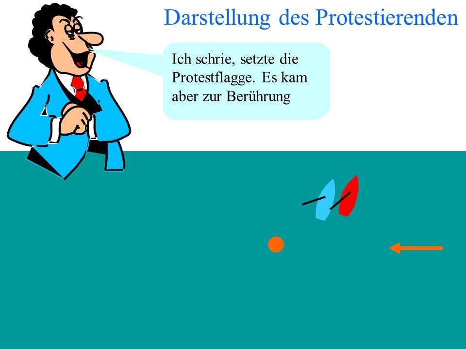 Darstellung des Protestierenden
