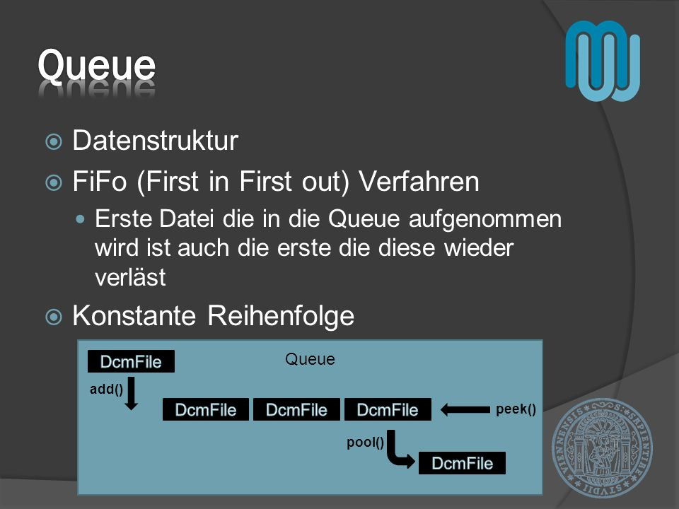 Queue Datenstruktur FiFo (First in First out) Verfahren