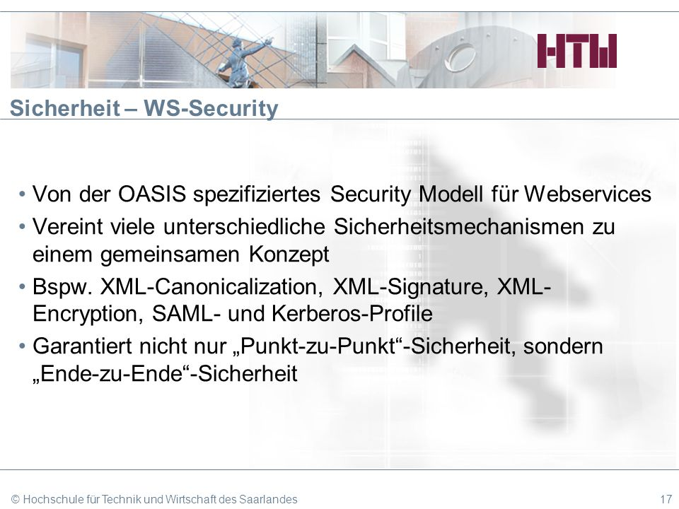 Sicherheit – WS-Security