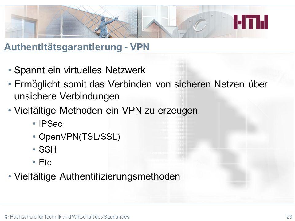 Authentitätsgarantierung - VPN