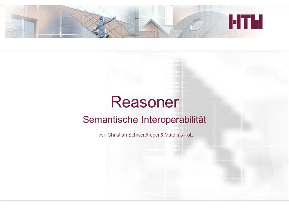 Reasoner Semantische Interoperabilität