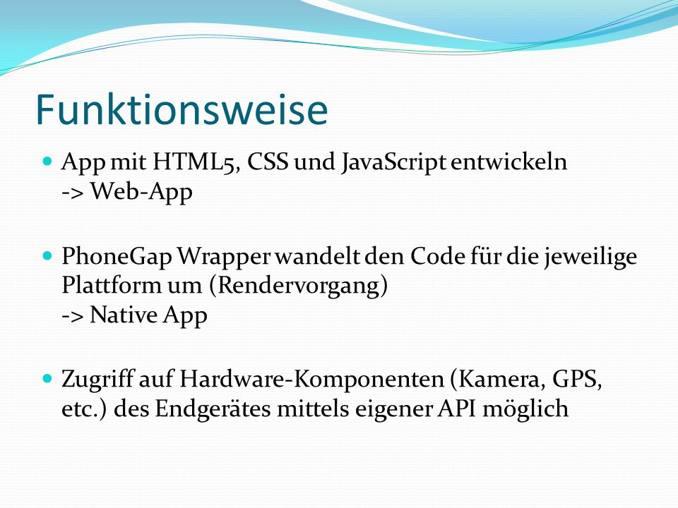 Funktionsweise App mit HTML5, CSS und JavaScript entwickeln -> Web-App.