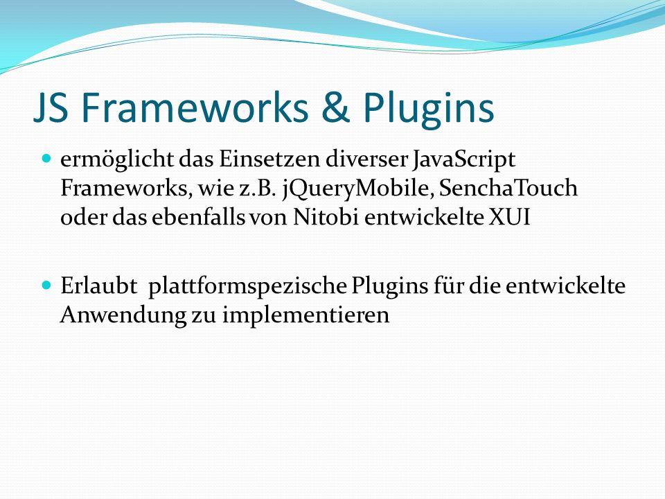 JS Frameworks & Plugins