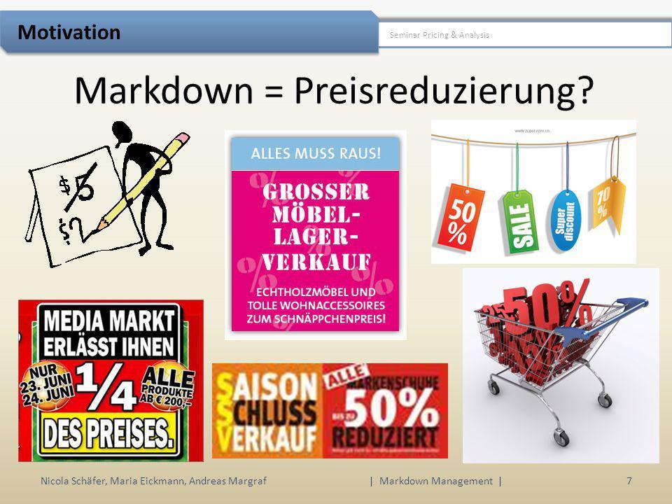 Markdown = Preisreduzierung