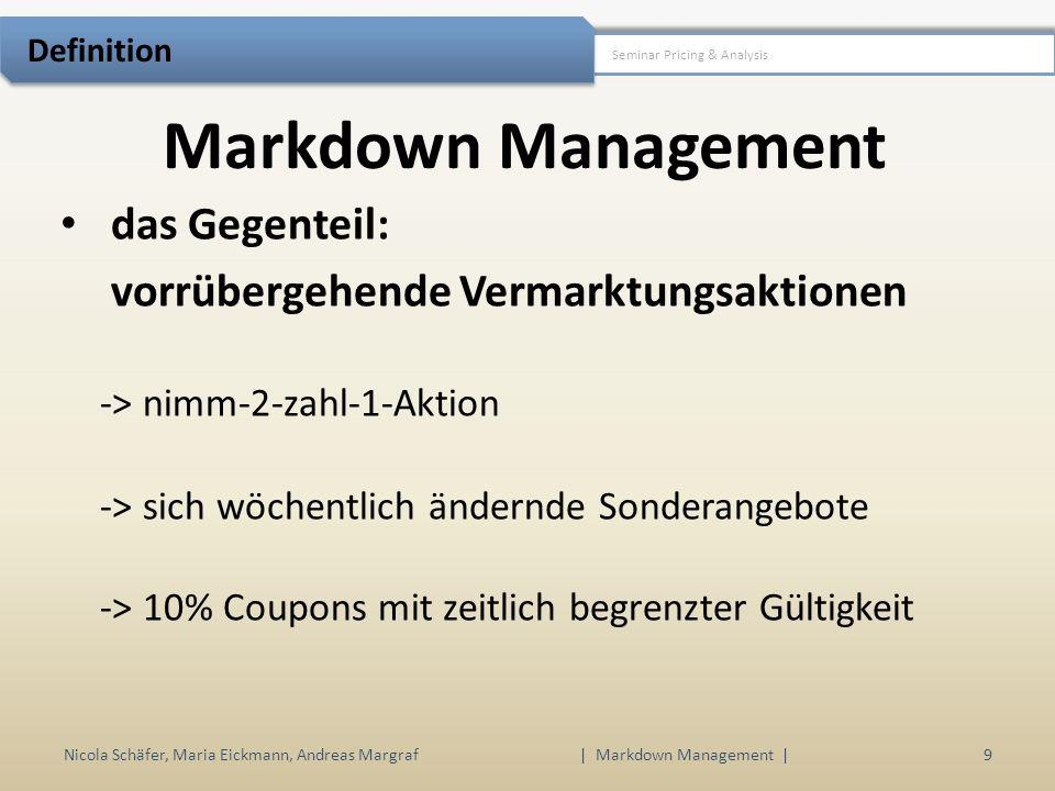 | Markdown Management |