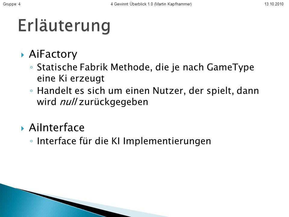 Erläuterung AiFactory AiInterface