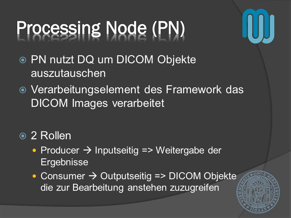 Processing Node (PN) PN nutzt DQ um DICOM Objekte auszutauschen
