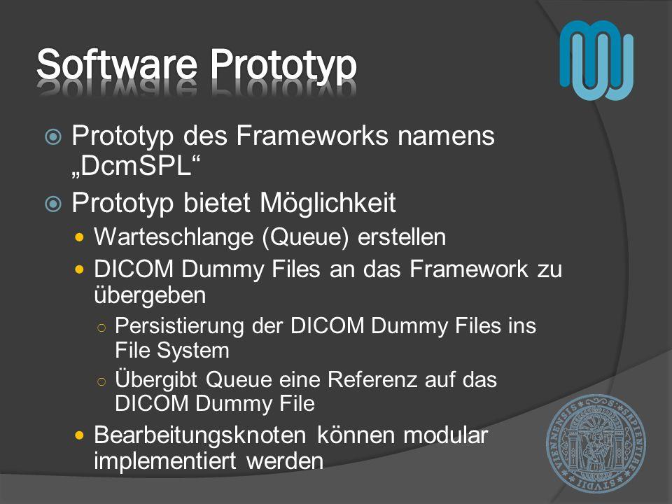 """Software Prototyp Prototyp des Frameworks namens """"DcmSPL"""