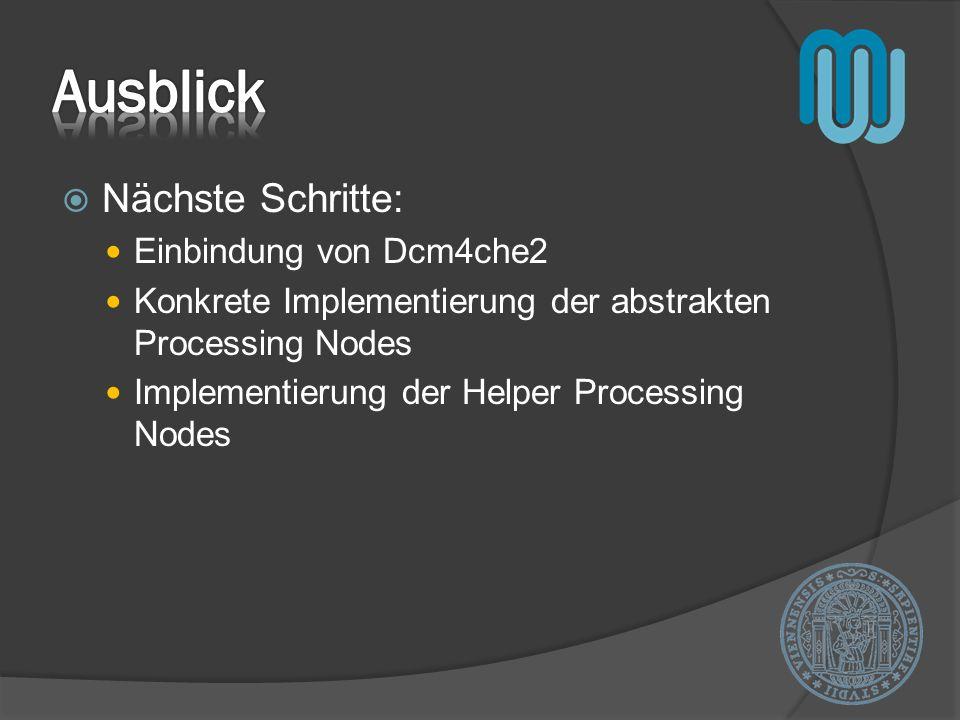 Ausblick Nächste Schritte: Einbindung von Dcm4che2