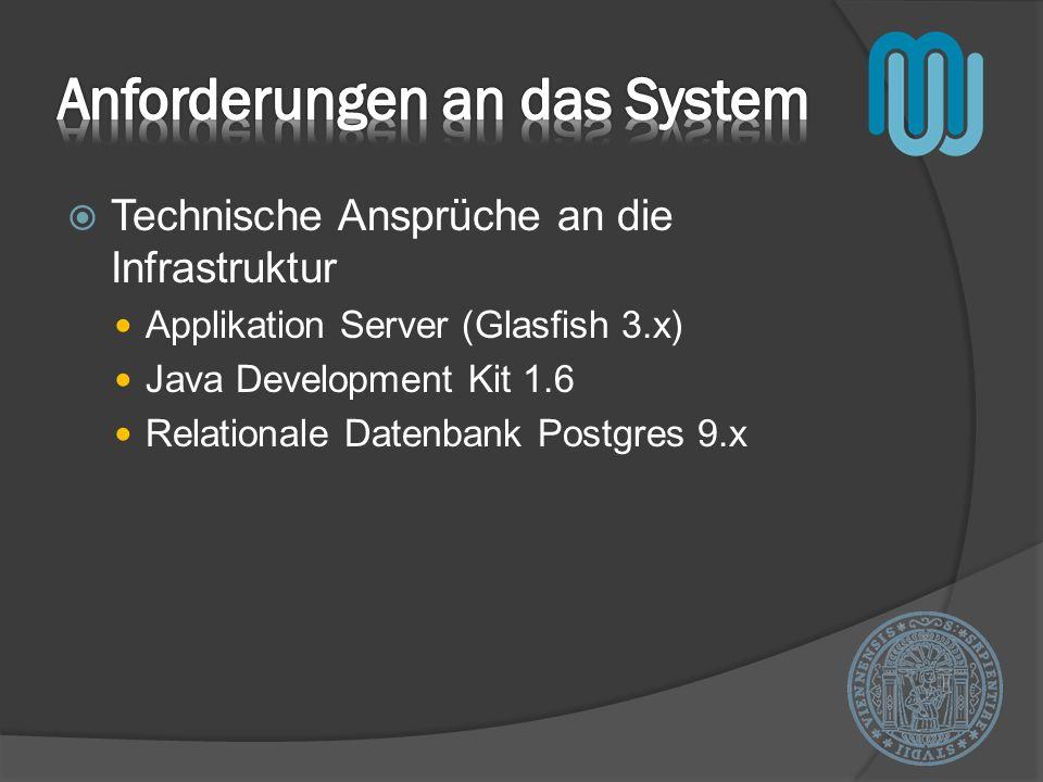 Anforderungen an das System