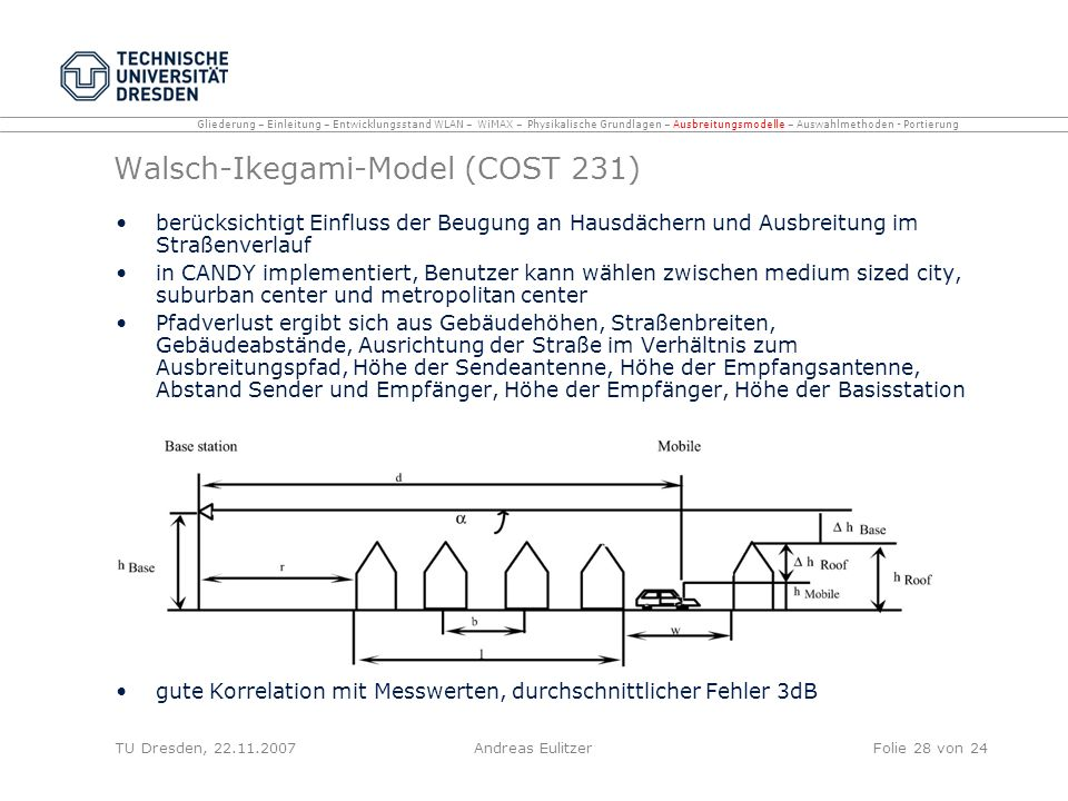 Walsch-Ikegami-Model (COST 231)