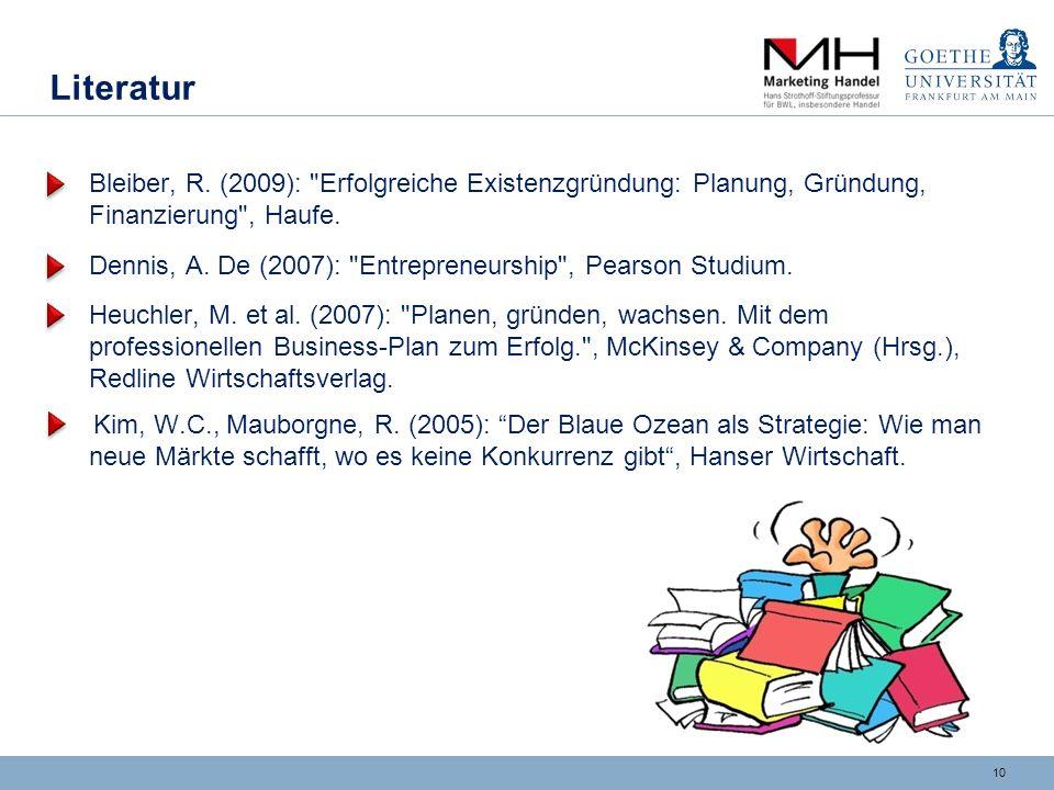 Konzept des Goethe Unibators
