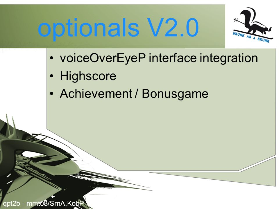 optionals V2.0 voiceOverEyeP interface integration Highscore