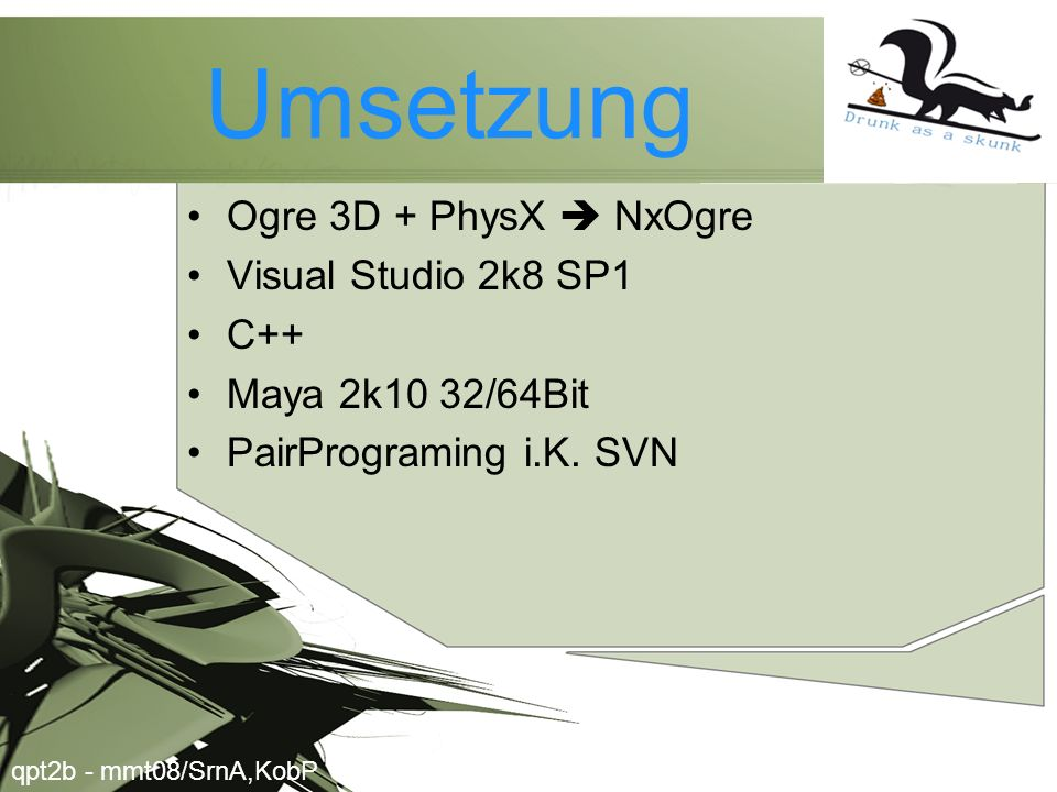 Umsetzung Ogre 3D + PhysX  NxOgre Visual Studio 2k8 SP1 C++