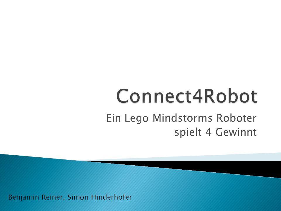 Ein Lego Mindstorms Roboter spielt 4 Gewinnt