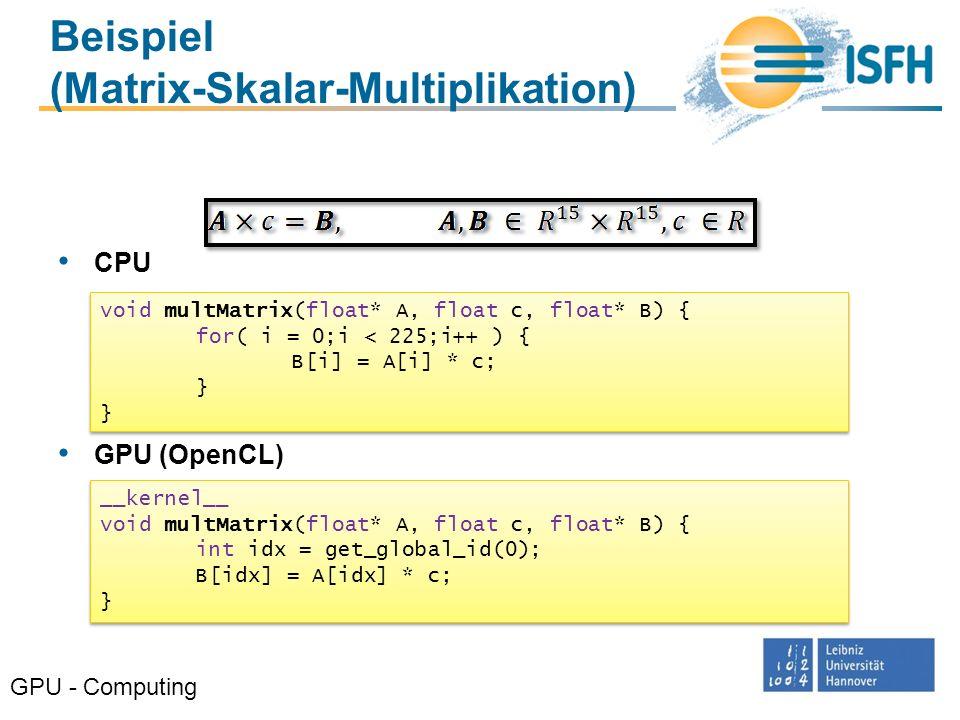 Beispiel (Matrix-Skalar-Multiplikation)