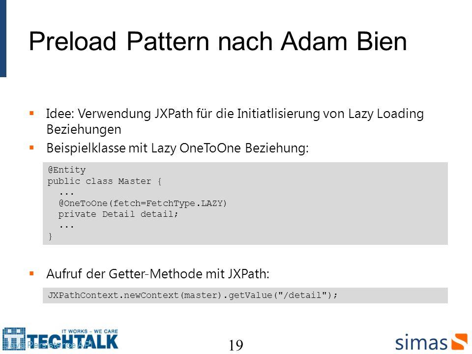 Preload Pattern nach Adam Bien