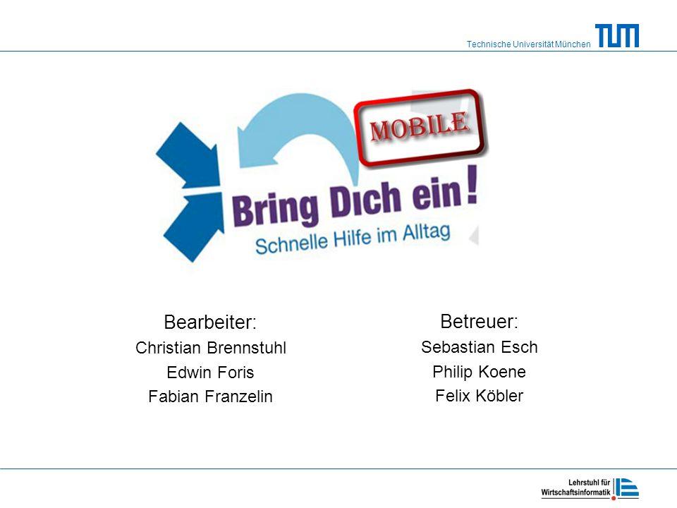 Bearbeiter: Christian Brennstuhl Edwin Foris Fabian Franzelin