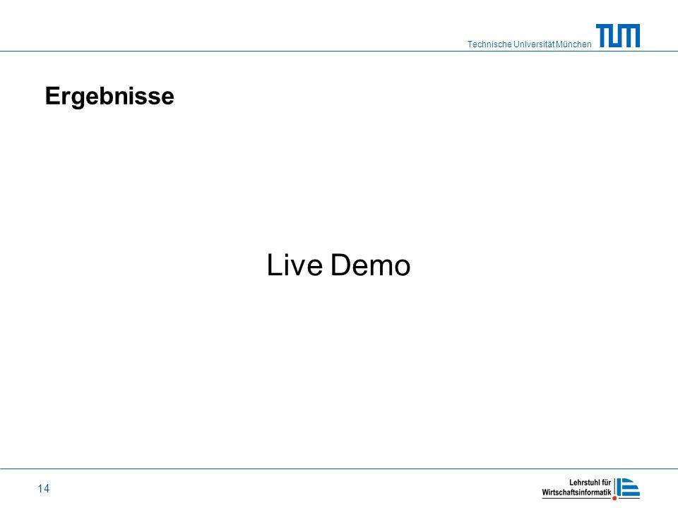 Ergebnisse Live Demo