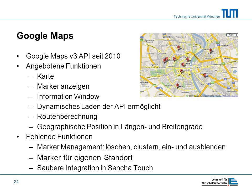 Google Maps Marker für eigenen Standort Google Maps v3 API seit 2010