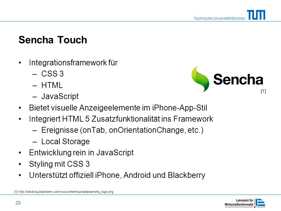 Sencha Touch Integrationsframework für CSS 3 HTML JavaScript