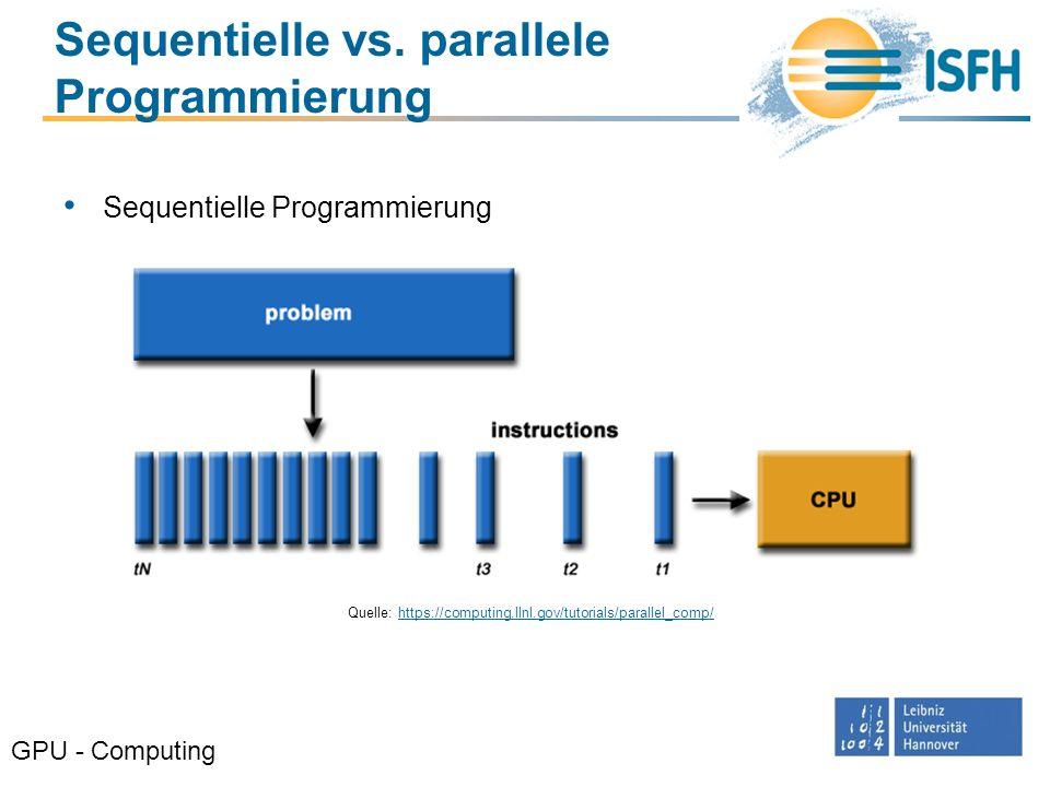 Sequentielle vs. parallele Programmierung