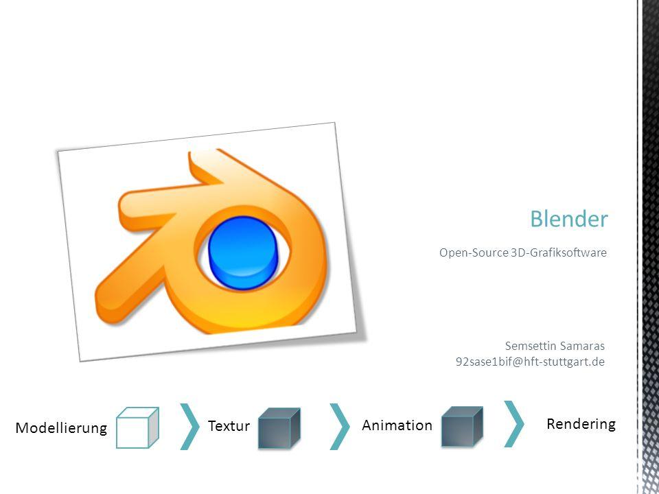 Blender Rendering Modellierung Textur Animation