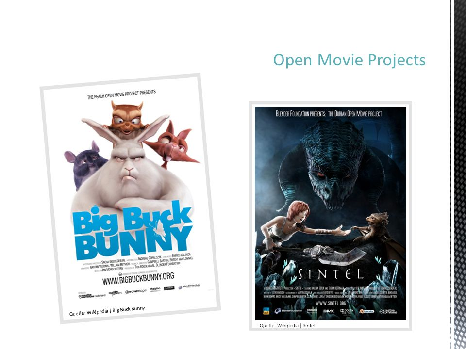 Open Movie Projects Quelle: Wikipedia | Big Buck Bunny