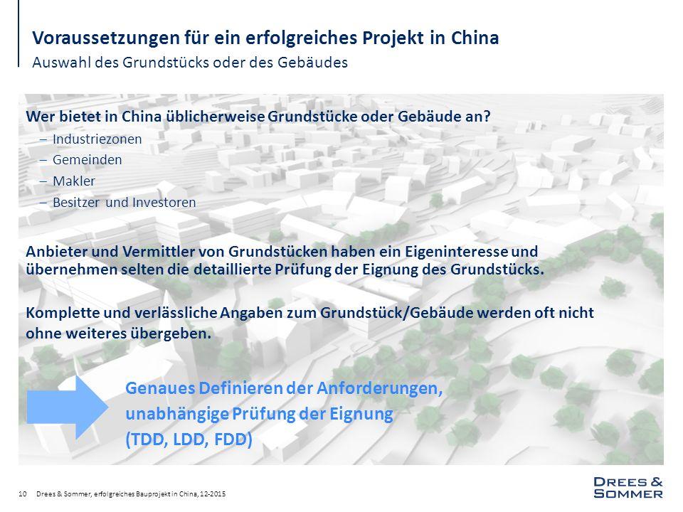 Voraussetzungen für ein erfolgreiches Projekt in China