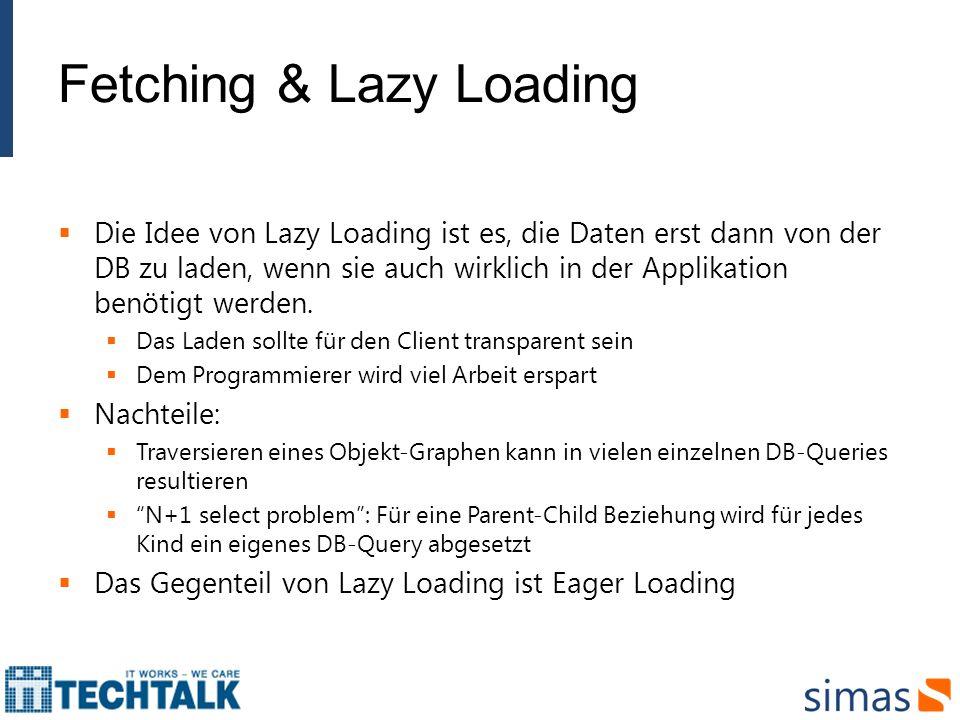 Fetching & Lazy Loading