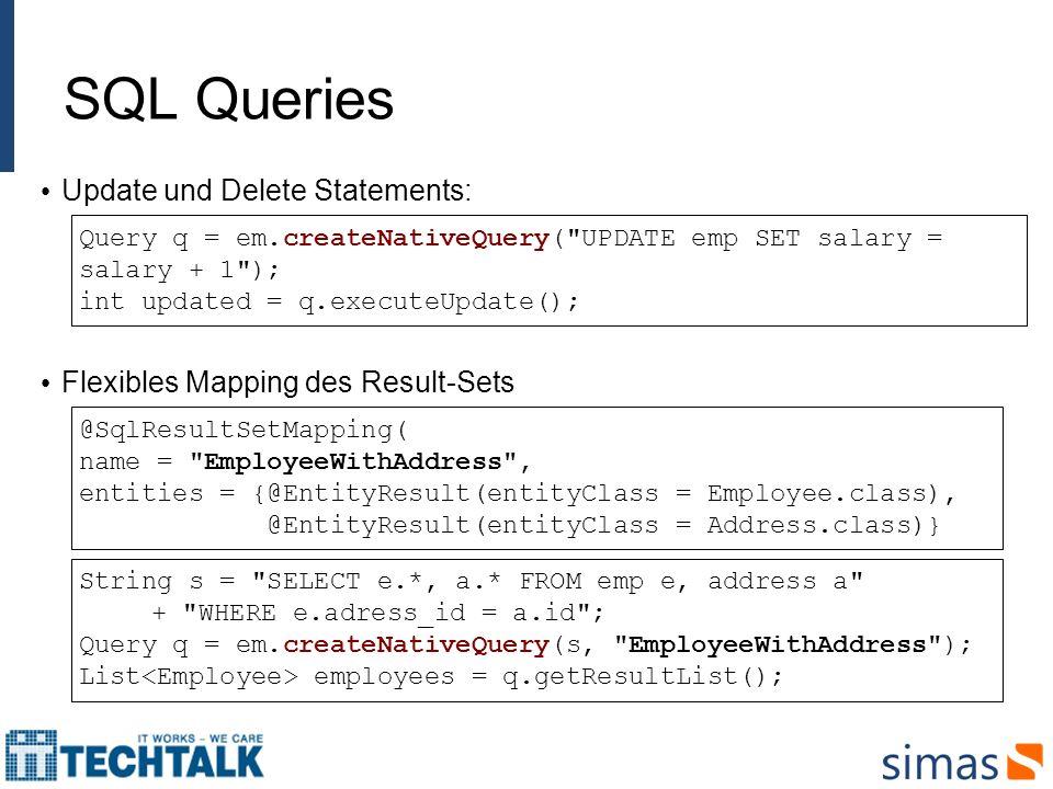 SQL Queries Update und Delete Statements: