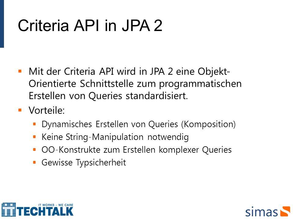 Criteria API in JPA 2