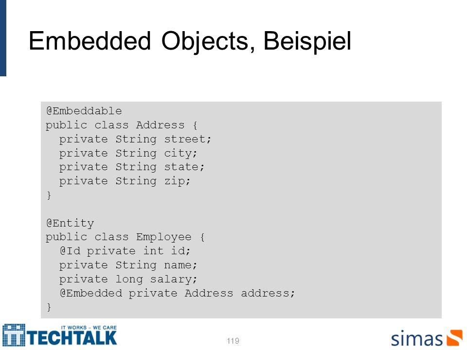Embedded Objects, Beispiel