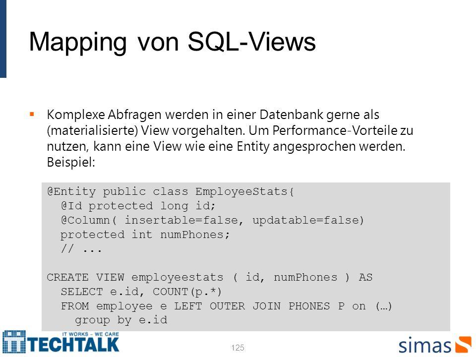 Mapping von SQL-Views