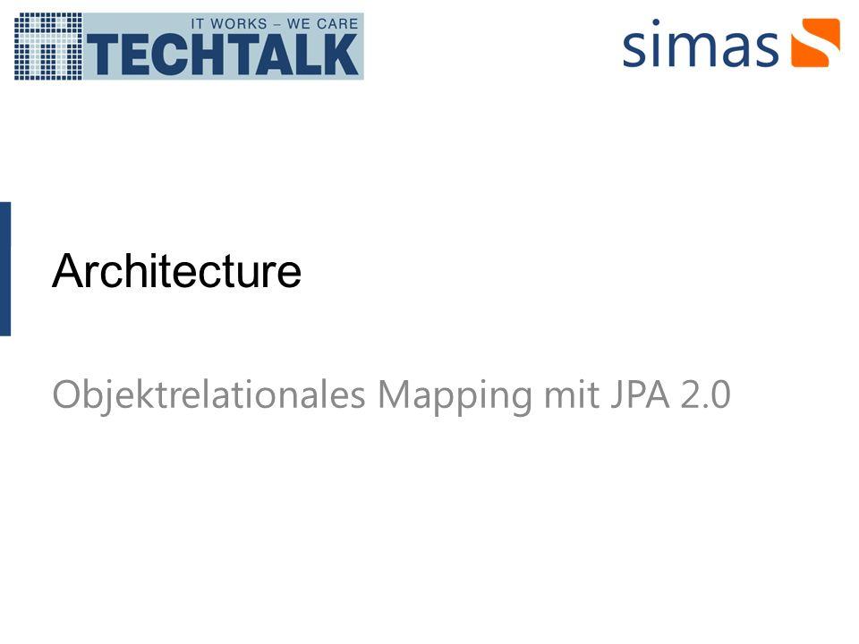Objektrelationales Mapping mit JPA 2.0