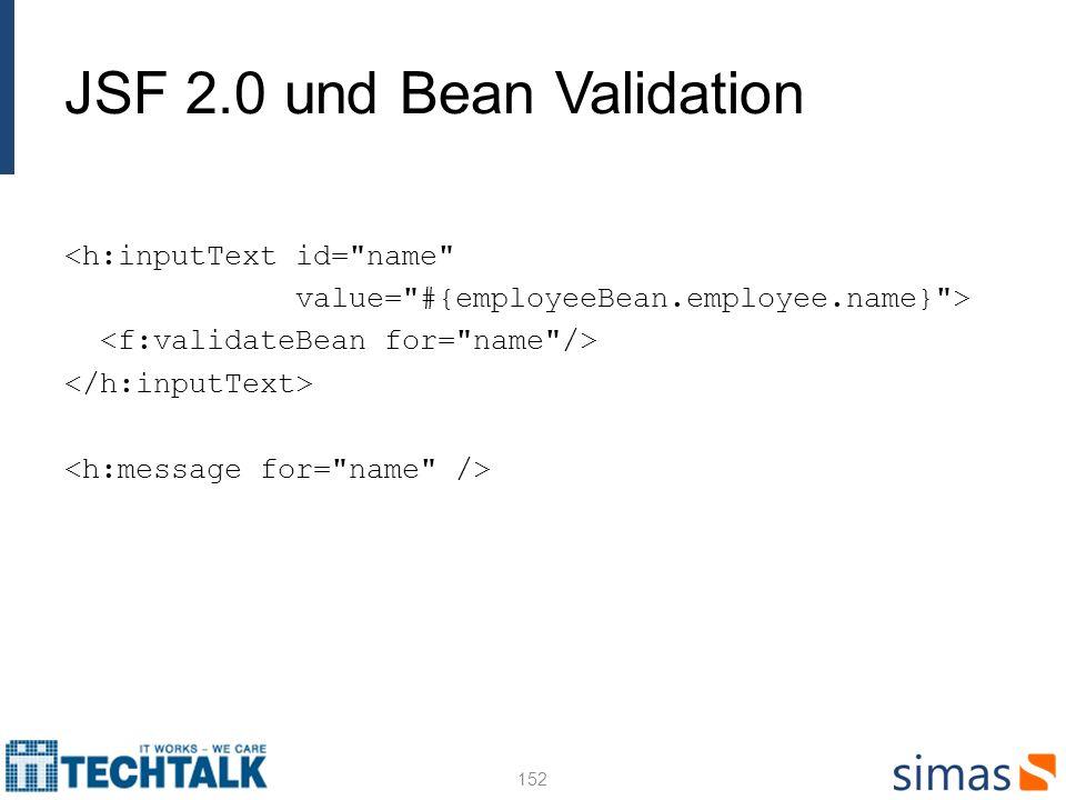 JSF 2.0 und Bean Validation