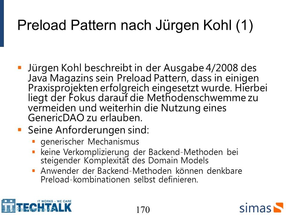 Preload Pattern nach Jürgen Kohl (1)