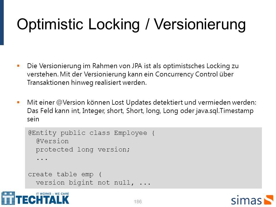 Optimistic Locking / Versionierung