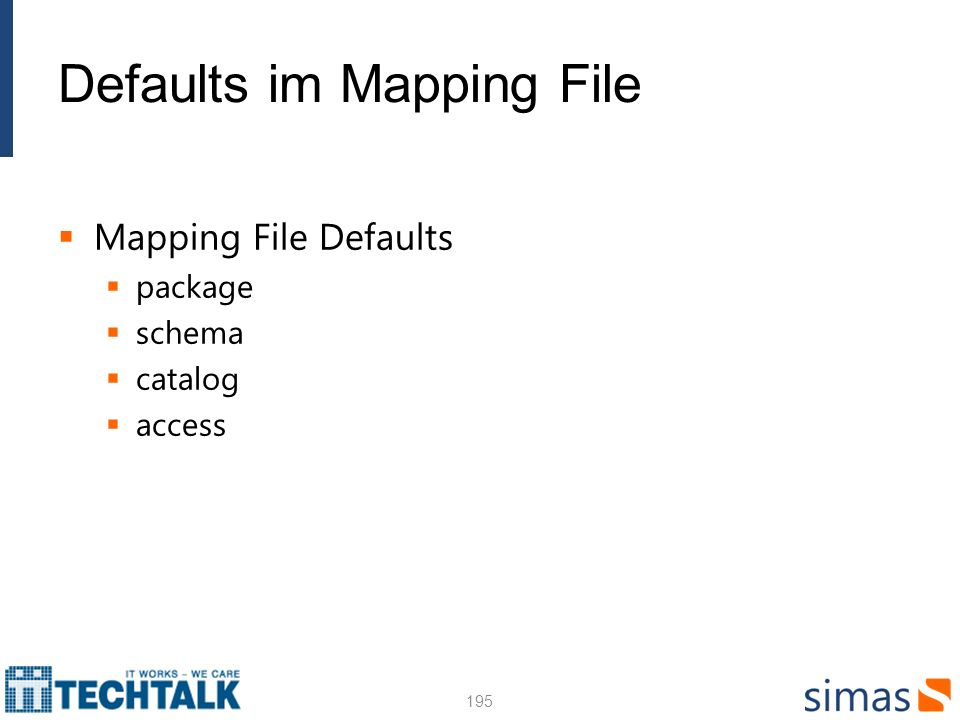 Defaults im Mapping File